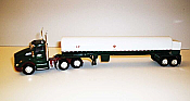 Trucks n Stuff TNS055 - HO Kenworth T680 Day-Cab Tractor with Cryogenic Tank Trailer - Assembled -- LP (white, green, red)