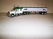Trucks n Stuff TNS072 HO Peterbilt 389 Sleeper-Cab Tractor w/Grain Trailer - Cargill-Sunglo