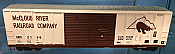 Athearn 27208 HO - 50ft FMC Centered Double Door Box - McCloud River Railroad Company #2134 (#2)