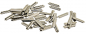 Micro Engineering 26083 HO Code 83 Nickel-Silver Rail Joiners - 50 pcs.