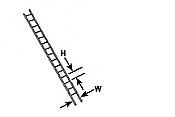 Plastruct 90422 HO ABS Ladder (2pcs pkg)
