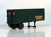 Sylvan Scale Models 012 HO Scale - CP Piggyback Trailer - Unpainted and Resin Cast Kit