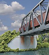 Walthers 4553 HO Cornerstone Double-Track Railroad Bridge Concrete Abutment 2-Pack
