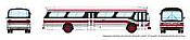 Rapido 573007 N - 1/160 New Look Bus - Toronto (Red/Black)