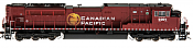 Athearn Genesis HO Scale SD90MAC-H Phase 2 DCC Ready Canadian Pacific #9302 -Pre Order