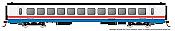 Rapido 25106 - HO Rohr Turboliner - DC/ Silent - Amtrak Phase 3 (late) - Turbocoach #186