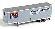 Trainworx 80309-02 HO 40' Hi-Cube Drop-Frame Smooth-Side Van Semi Trailer - Family Lines - SCL/L&N 206032