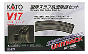 Kato N Scale 20-877 Unitrack V17 Concrete Slab Double-Oval Track Set