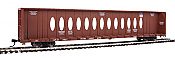 WalthersMainline 4837 HO - 72Ft Centerbeam Flatcar with Opera Windows - Ready to Run - Union Pacific #273163