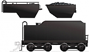Rapido 603090 HO H-6-style Tender: Painted, Unlettered Canadian National Railway DC/Silent Pre-Order coming 2020
