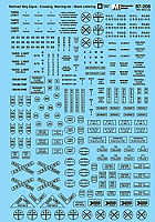Microscale 87206 HO Scale - Signs -Railroad Crossbucks, Yard Signs, etc. - Waterslide Decal
