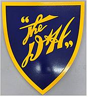 Stoddarts Ltd. D&H2 - 3D Railroad Wall Artwork - Delaware & Hudson Logo (Yellow on Blue)