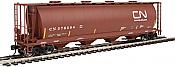 Walthers Mainline HO 7364 59 Ft Cylindrical Hopper Canadian National #376584