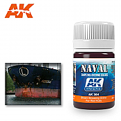 AK Interactive 304 Red Hulls Brown Streaking Grime Enamel Paint 35ml