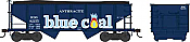 Bowser 41862 HO PRR Class GLa Type 2-Bay Open Hopper - Blue Coal  Reading 82158 (Blue Coal Fantasy)