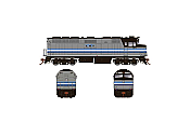 Rapido 083116 HO Scale EMD F40PH Ph2 with Ditch Lights, Standard DC, AMT Montreal Transit No.271