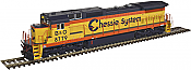 Atlas 10 002 265 HO Dash 8-40C Locomotive Silver DCC Ready  Chessie System B&O No.8808