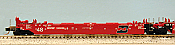 Deluxe Innovations 210902 N Scale - Maxi-Stack III 5-Unit Intermodal Well Car - Burlington Northern Santa Fe America Set 2 (red) - 48 FT Well