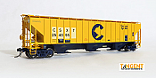 Tangent Scale Models HO 20028-02 - PS4750 Covered Hopper - CSX - Ex Chessie Patch 1988plus #254142