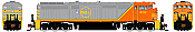 Rapido N Scale 540530 GE Dash 8-40CM - DCC & Sound Quebec North Shore & Labrador 403 - Taking Orders Now