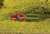 Walthers 4146 HO SceneMaster - Benches - pkg of 8