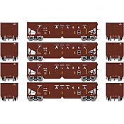 Athearn 14274 HO RTR 40ft OB Ballast Hopper/Load ARR 4pk Set 1