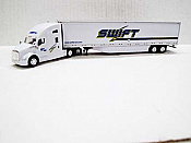 Trucks n Stuff TNS027 - HO Kenworth T680 Sleeper-Cab Tractor - 53ft Dry Van Trailer - Swift