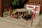 Monroe Models 2218 HO J. Burke Filling Station - Laser-cut Kit