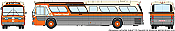 Rapido Trains 703094 HO New Look Bus Exclusive London Transit Commission (Orange/Brown)#132 4 - Oxford East Standard