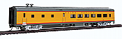 WalthersProto 18103 HO Scale 85 ACF 48-Seat Diner - Ready to Run Union Pacific(R) 302 Overland (Heritage Fleet; Armour Yellow, gray, red) 920-18103