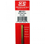 K&S Engineering 8151 All Scale - 1/8 inch OD Square Brass Tube 0.014inch Thick x 12inch Long