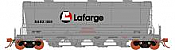 Rapido 133011 - HO ACF PD3500 Flexi Flo Hopper - GE Rail Services NAHX Version 3(996H) Lafarge Cement gray-inservice 1990 (6pk)
