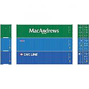 Athearn RTR 27154 HO Scale - 40Ft Hi-Cube Containers  MMCU/BHCU/CNCU 3 Pack