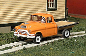 Sylvan Scale Models 317 HO Scale - 1955-56 GMC 1/2 Ton Flatbed - Unpainted and Resin Cast Kit