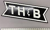 Stoddarts Ltd. TH&B - 3D Railroad Wall Artwork - TH&B Bowtie Logo