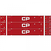 Athearn 26674 HO - RTR 53Ft Jindo Container, CPPU (3pkg)