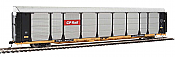 WalthersProto 101327 HO - 89ft Thrall Bi-Level Auto Carrier - Ready To Run - Canadian Pacific Rack, TTGX Flatcar #970741