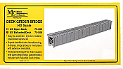 Micro Engineering HO Scale 75506 Deck Girder Bridge 85 Ft Ballasted Deck