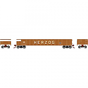 Athearn RTR 1478 N Scale - 52 Ft Mill Gondola - HZGX #3906
