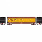 Athearn Roundhouse 79107 HO 50ft Plug Door Smooth Side Box, MILW 2650