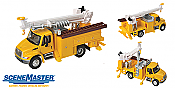 Walthers 11732 HO SceneMaster International(R) 4300 Utility Truck w/Drill - Assembled - Yellow