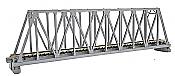 Kato Unitrack 20-433 - N Scale Single Track Truss Bridge 9-3/4in (248mm) - Silver