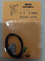 Juneco HO S-4    6.10  3 Lt Ground Signal w/12V bulbs