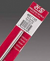 K&S Engineering 87135 All Scale - 1/8 inch OD Round Stainless Steel Rod - 22 Gauge x 12inch Long