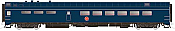 Rapido Trains 124037 HO Scale Pullman-Standard Lightweight Diner-Lounge Missouri Pacific (Jenks Blue) #843 Pre Order