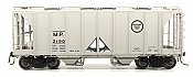 Intermountain 48688-06 HO 1958 Cu Ft 2 Bay Covered  Hopper- Open Sides - Missouri Pacific #2199