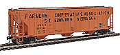 Walthers Proto 106159 - HO 55Ft Evans 4780 Covered Hopper - Farmers Cooperative Association (USLX) #26722