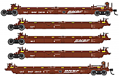 WalthersMainline 55620 HO - Thrall 5-Unit Rebuilt 40 Ft Well Car - Ready to Run - BNSF Railway #238130 A-E