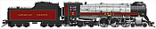 Rapido Trains 600007 HO Scale Canadian Pacific Royal Hudson CPR #2851 Classes H1d - DC Silent  Pre-Order Coming in 2017