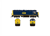 Rapido 083120 HO Scale EMD F40PH Ph2 with Ditch Lights, Standard DC, CSX No.9999